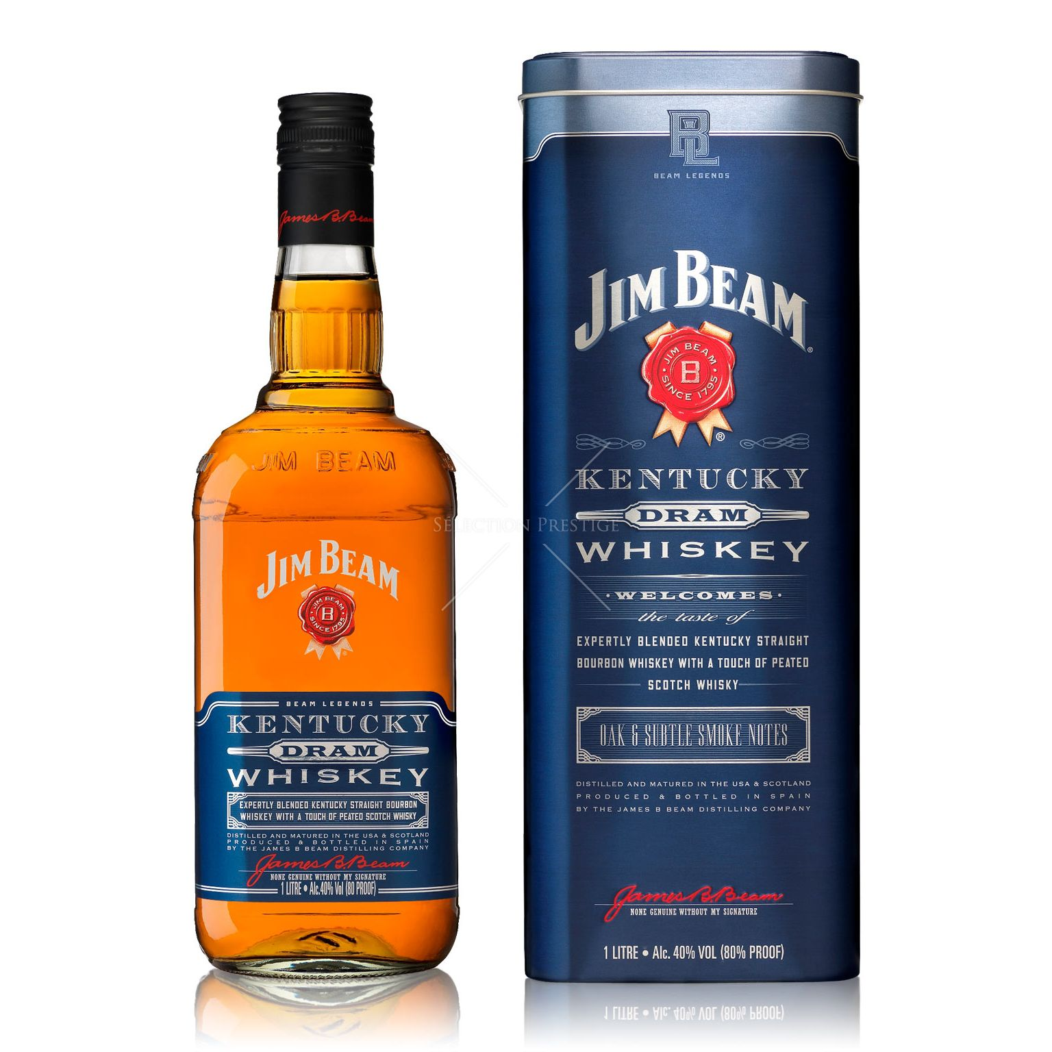 Jim Beam Kentucky Dram Whiskey 1.0L (40% Vol.)