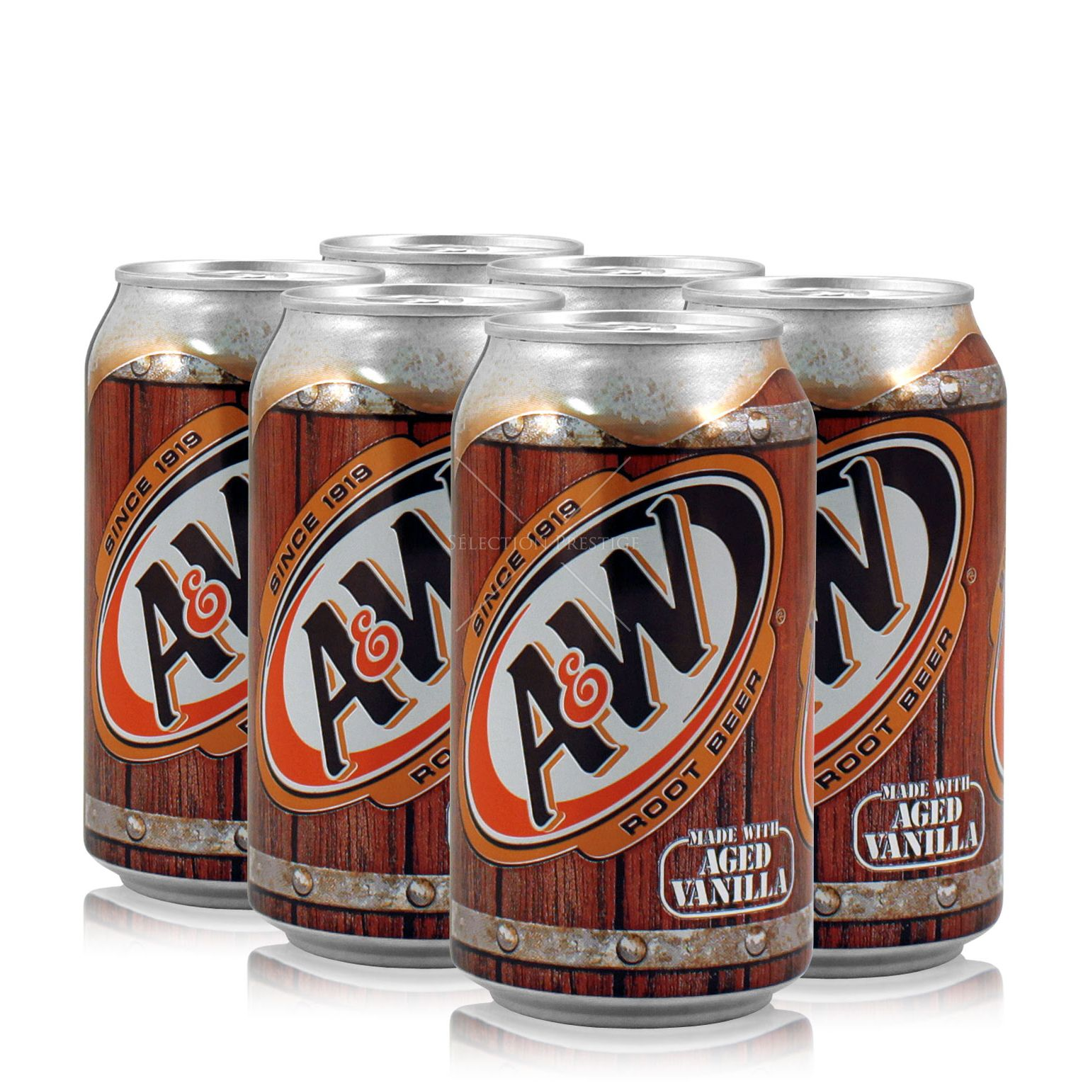 A W Root Beer 6x0 355l A W Softdrinks
