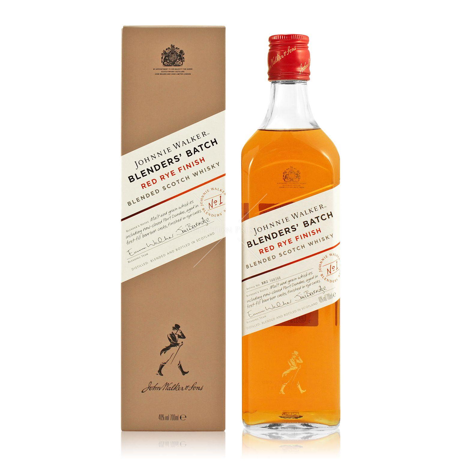 Johnnie Walker Red Rye Finish 0 7l 40 Vol Johnnie