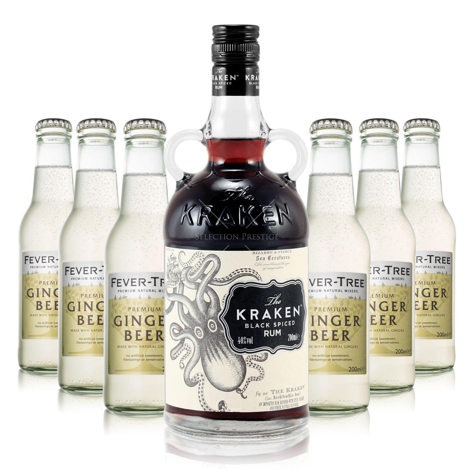 The Kraken Black Spiced Rum Fever Tree Ginger Beer