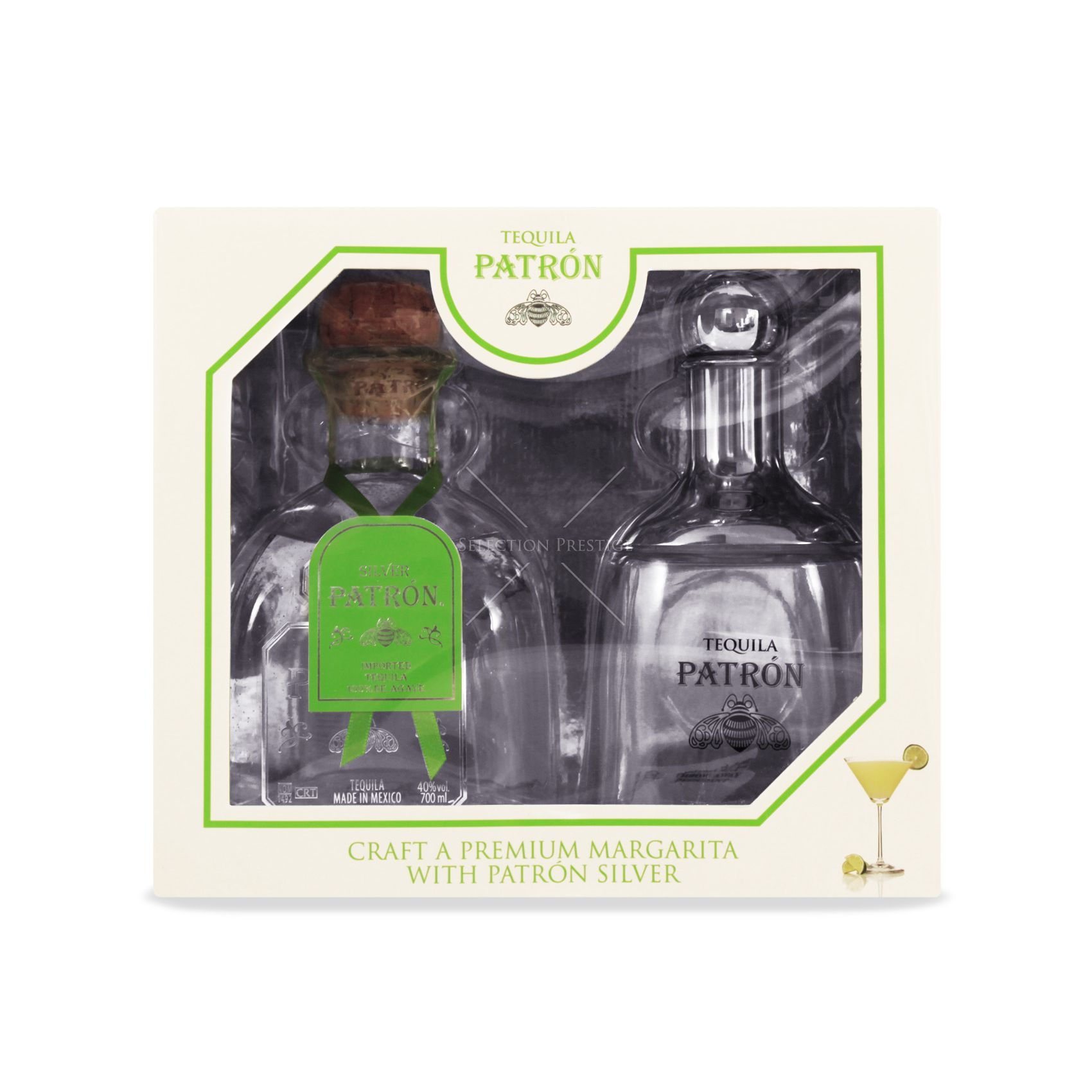 Patrón Silver Tequila Gift Set with Shaker - Patrón - Tequila