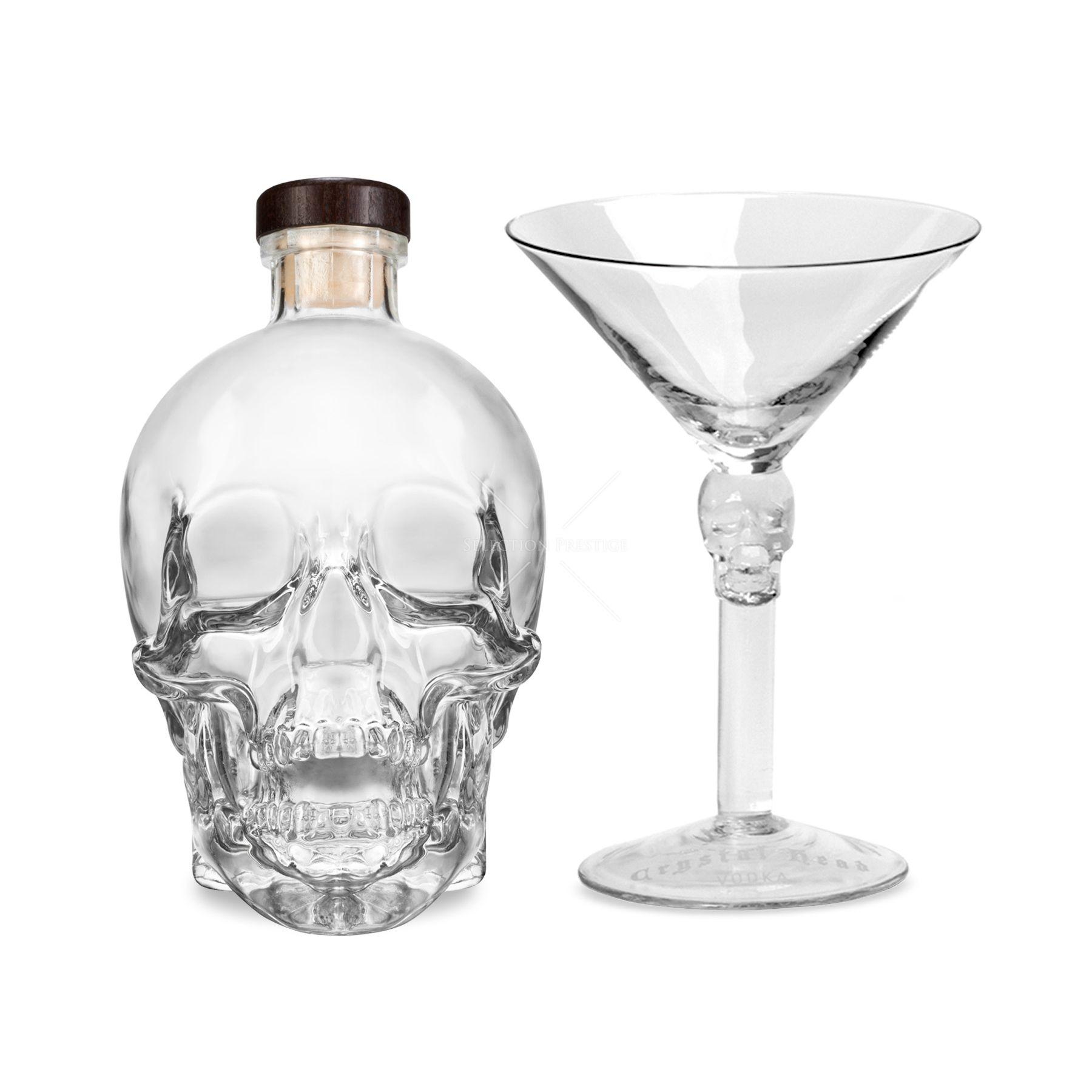 Crystal Head Vodka 0,7L (40% Vol.) + 1 verre à Martini - Crystal ...