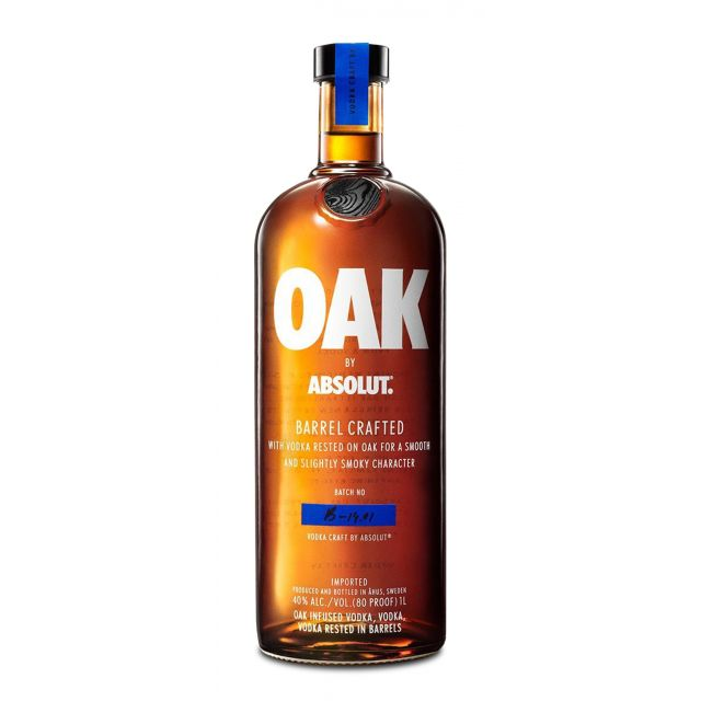 Absolut Oak Barrel Crafted Vodka 1,0L (40% Vol.)