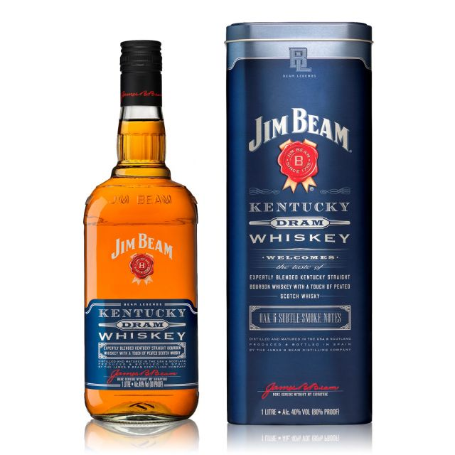 Jim Beam Kentucky Dram Whiskey 1,0L (40% Vol.)