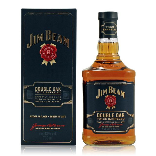 Jim Beam Double Oak Bourbon Whiskey 0,7L (43% Vol.)