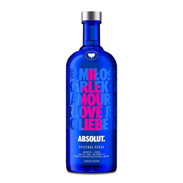 Absolut Vodka A Drop of Love 1,0L (40% Vol.)